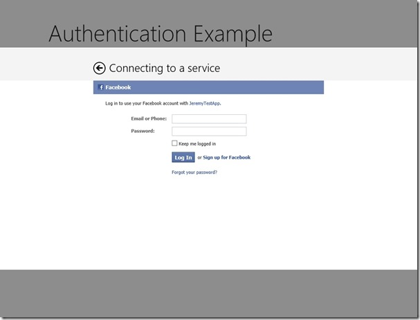 Single Sign On with OAuth in Windows Store Apps – Wintellect