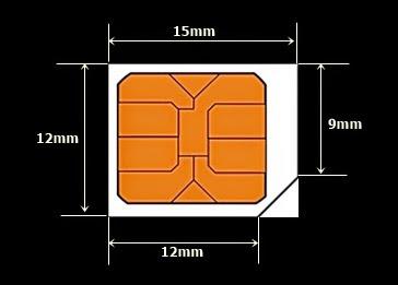 Ukuran Potong Micro SimCard smartphone terkini