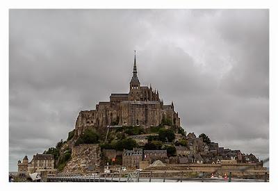 Mont Saint Michel - Blick von der Haltestelle