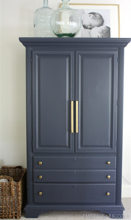 painted blue armoire