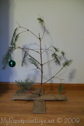 do it yourself Charlie Brown Christmas tree