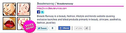 BeauteRunway Best Beauty Blog Category