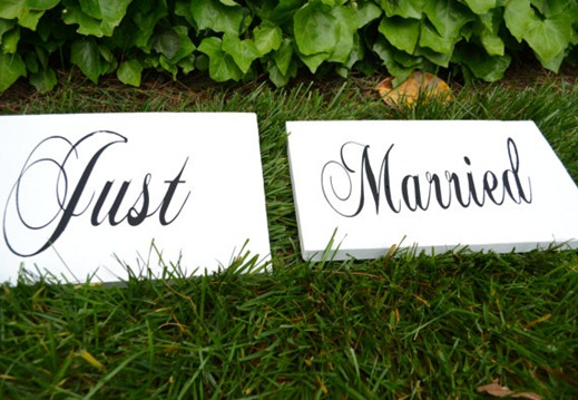 STEP just married signs for photos