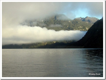 Beautiful cloud formation over Lake Manapouri.