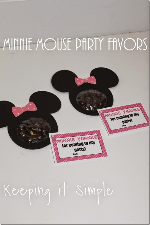 Minnie Mouse Birthday Party Favor with Printable