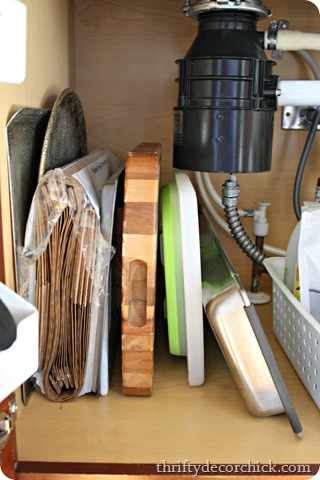 organizing under the sink