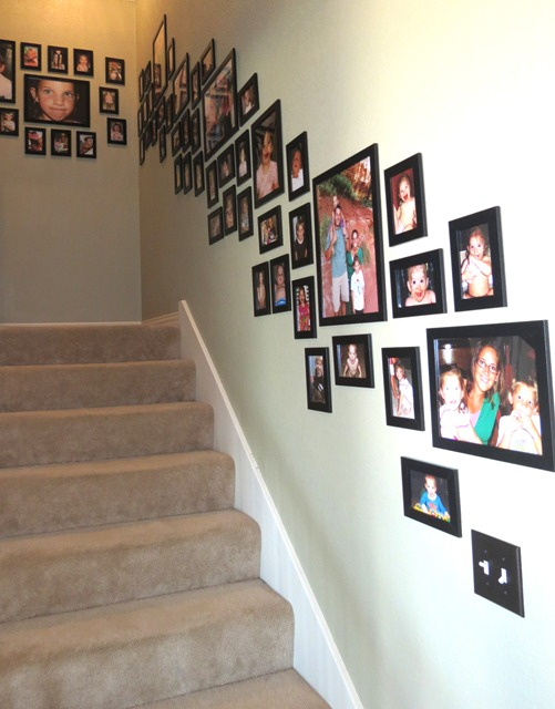 Use Velcro To Hang Pictures On Stairway 1