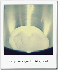 sugar in bowl