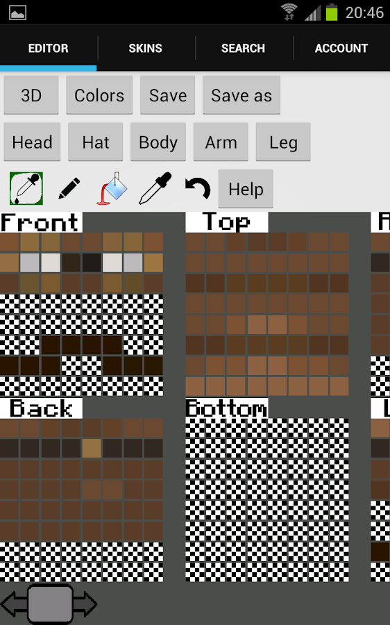 Skin editor 3D for Minecraft - screenshot