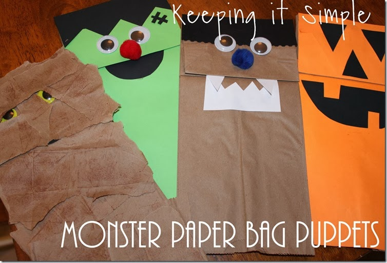 monster paper bag puppets