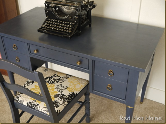 Red Hen Home Navy Desk 2