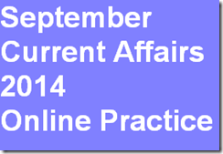 September Current Affairs 2014