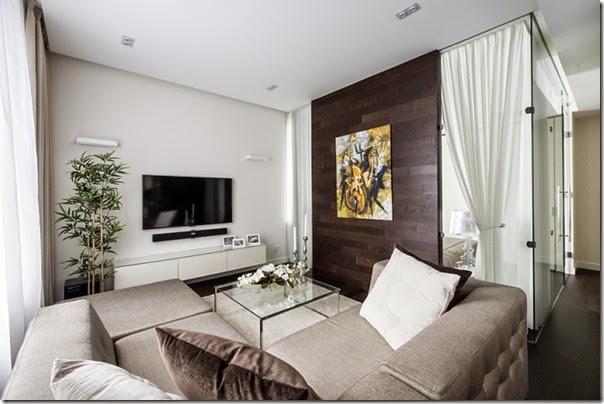 Piccoli spazi minimalismo in 60 mq case e interni for Foto appartamenti moderni