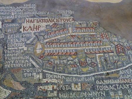 Obiective turistice Iordania: Mozaic Madaba - Ierusalim