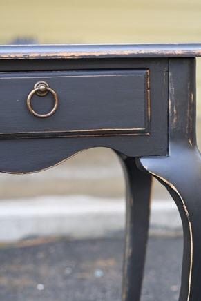 distressed black sofa table