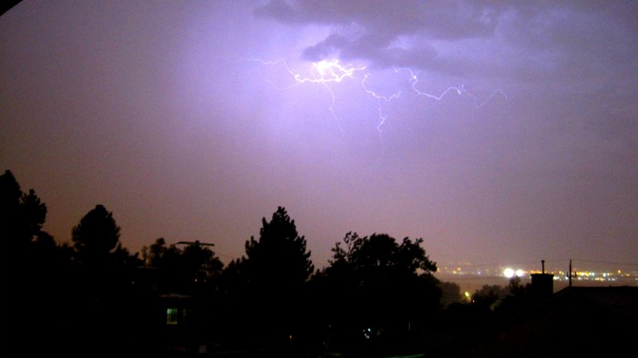 lightning in Salt Lake City