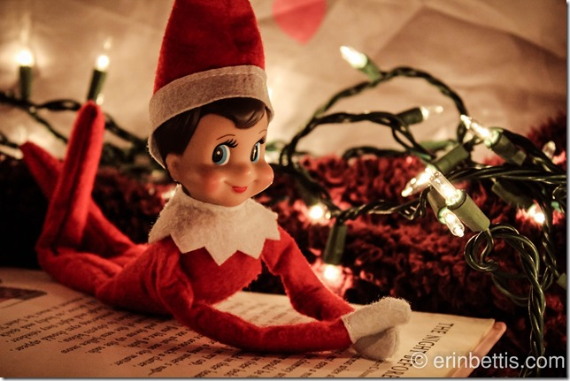 "Reading ""'Twas the Night Before Christmas Elf on the Shelf. Click for more ideas! #elfontheshelf"