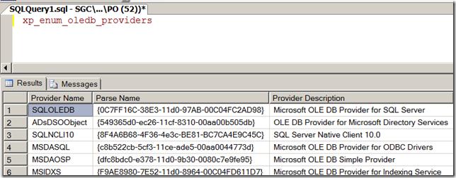 OLEDB Provider | SQL Panda