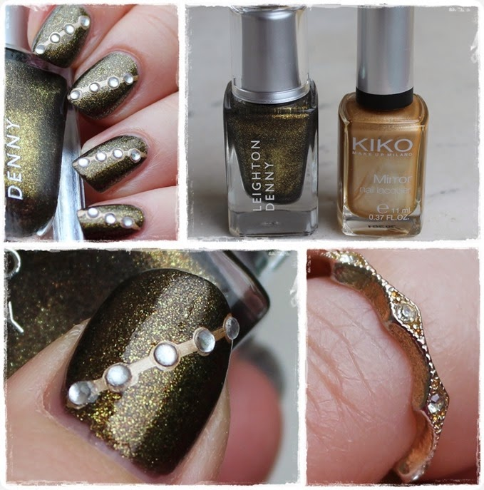 Autumn Nail Art Herbst Nageldesign Gold Bling 0111