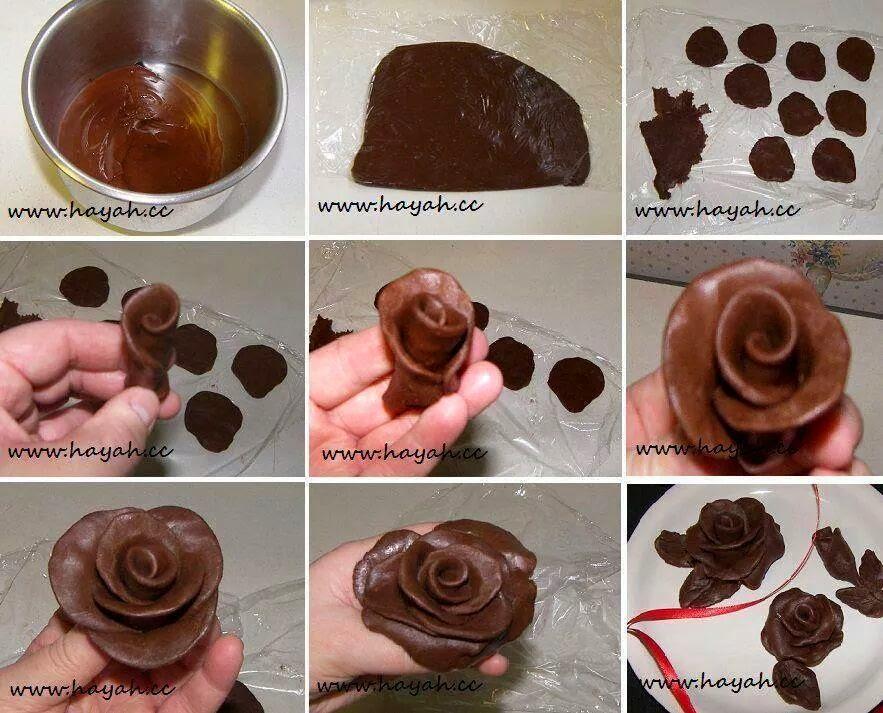 Comment Faire Des Roses En Chocolat Idees Fait Main