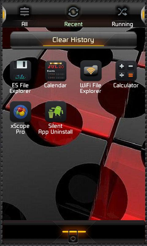 Blackened Theme Go Launcher EX - screenshot