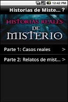 Screenshot of Historias Reales de Misterio