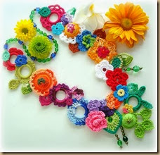 crochet flower five