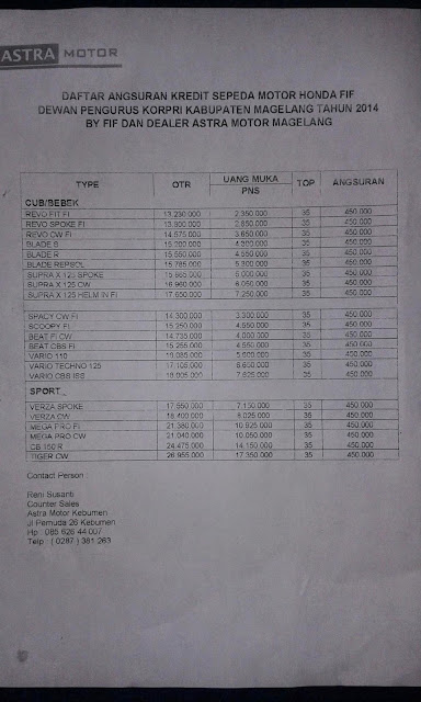www.tourkebumen.blogspot.com: Tabel Daftar Harga Sepeda