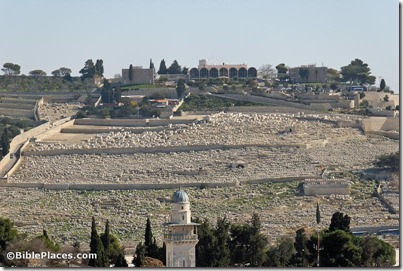 Mount of Olives cemetery from west, tb011610684