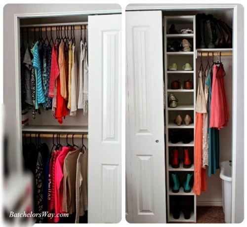 DIY shoe storage for closet