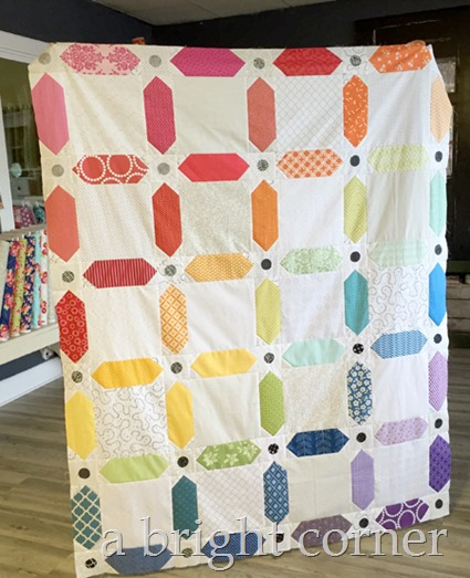 Rainbow Dash quilt top