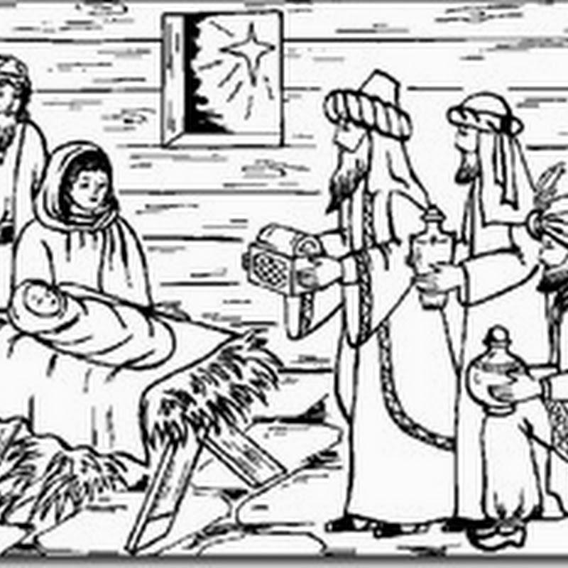 Navidad nacimiento para colorear, dibujos del pesebre