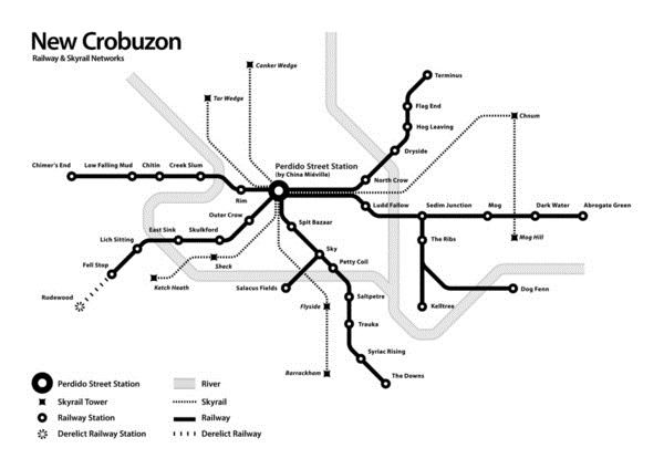 New Crobuzon railway map