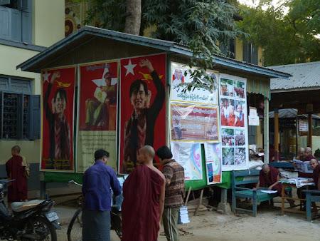 Democratie Myanmar: opozitie in manastiri