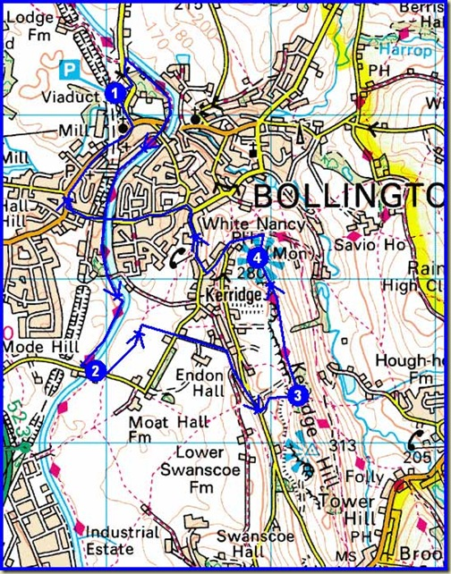 A Bollington circuit - 8 km, 250 metres ascent, 2 hours