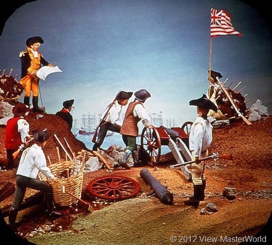 View-Master The Revolutionary War (B810), Scene B1: Washington Fortifies Dorchester Heights, 1776