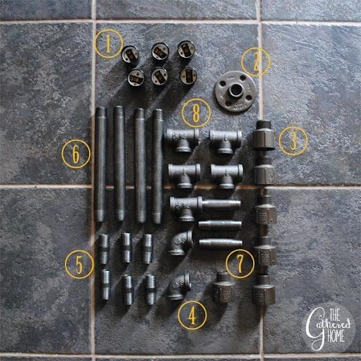 DIY Plumbing Pipe Light Fixture Parts