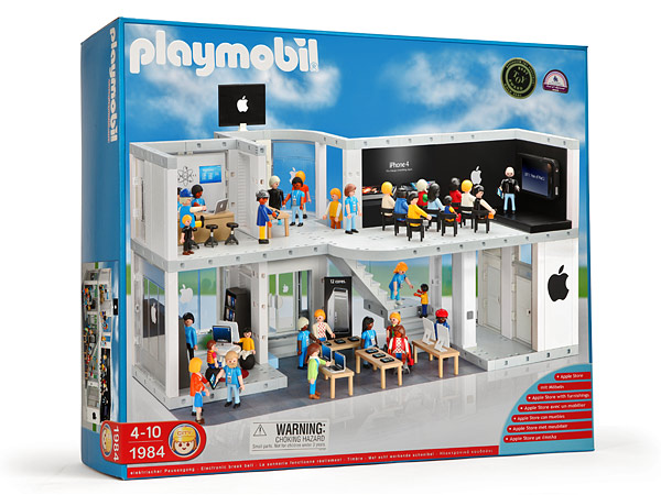 E8bb playmobil apple store box