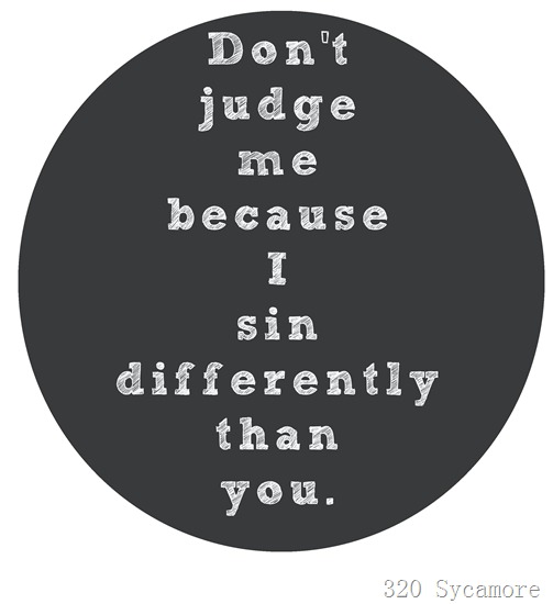 sin differently