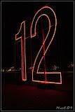 12 (von einer großen Uhr) am Marx-Engels-Forum