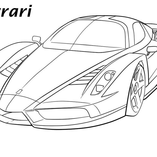 14 Awesome Ferrari La Ferrari Coloring Pages - Italian Supercar | 640x640