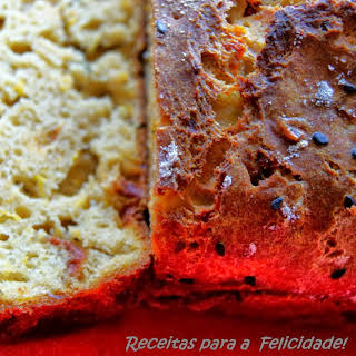 Pumpkin Bread with Dried Tomatoes and Anchovies.
