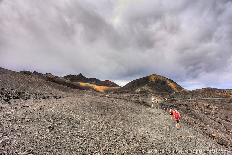 hiking on Sierra Negra volcano isabela island Galapagos