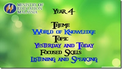 Year 4 KSSR Lesson Plan Listening and Speaking ~ Naluri Hidup