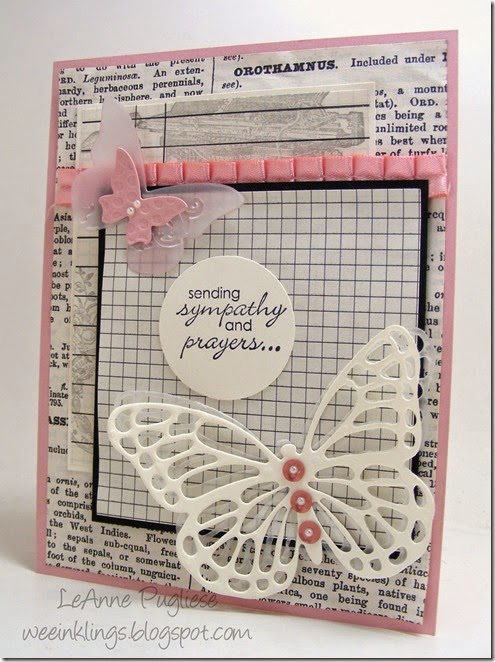 LeAnne Pugliese WeeInklings Butterfly Sympathy Petite Pairs Stampin Up