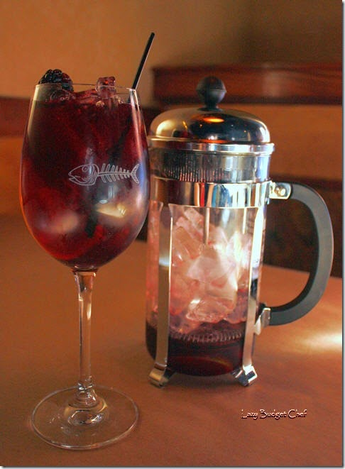 French press blueberry sangria