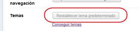 tema predeterminado en Chrome