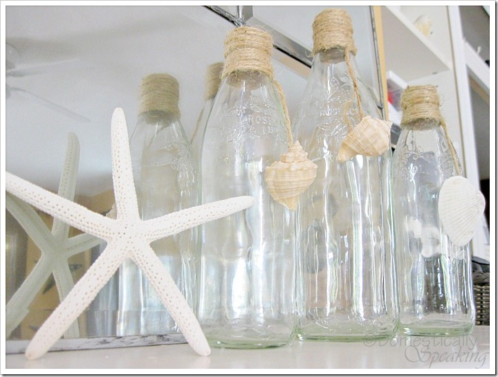 Twine Wrapped Bottled with Shells