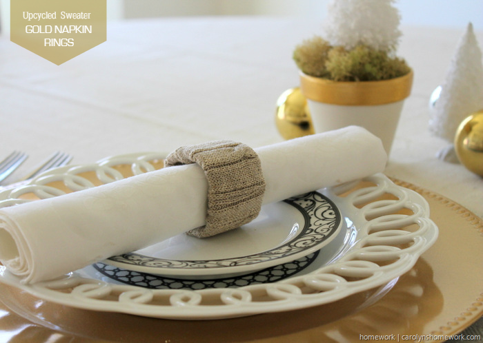Upcycled Sweater Napkin Rings via homework (2)