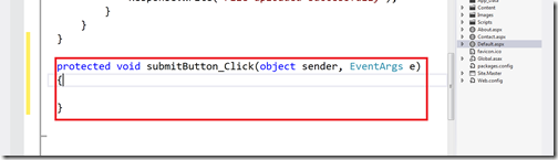 Event Handler in asp.net with visual studio 2012 - What's new in visual studio 2012